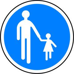 Panneau : Chemin piéton