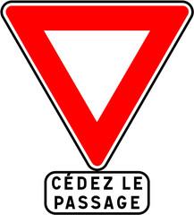 Panneau - Céder le passage