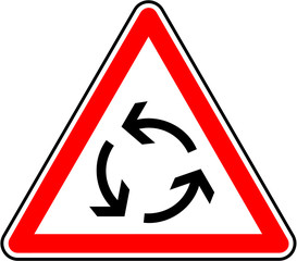 Attention - Rond-point