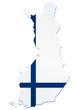 Carte de la Finlande (drapeau)