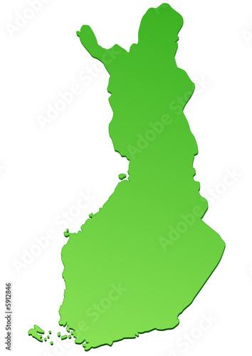 Carte de la Finlande verte