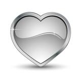 Coeur avec contour métal poster