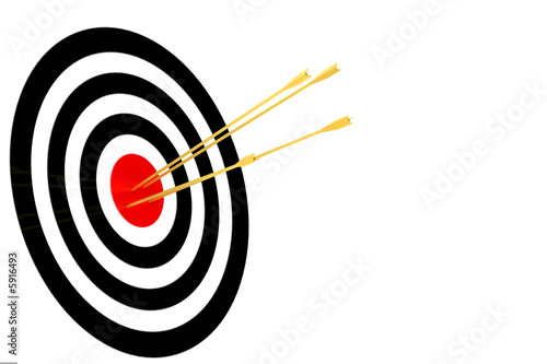 dartboard with arrow isolated in white background..