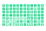 web icons set green