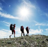 Backpackers in the hike poster