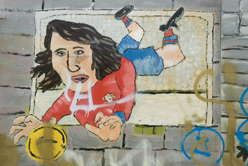 goalkeeper graffiti