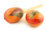 decorative musical  hand shakers known as maracas  poster