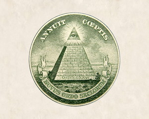 dollar bill detail - pyramid seal