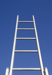 Stairs of success to blue sky, growth concept