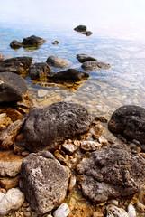 Rocks in clear water of Georgian Bay, Ontario Canada