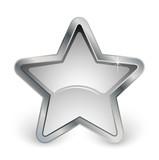 étoile grise avec contour métal poster
