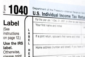 U.S. Federal 1040 Tax Form