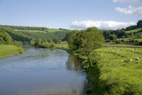 The valley of the river wye wales england border poster