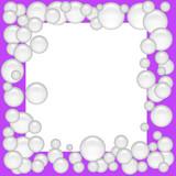 bubble scrapbook frame poster