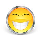 Smiley avec contour en métal poster