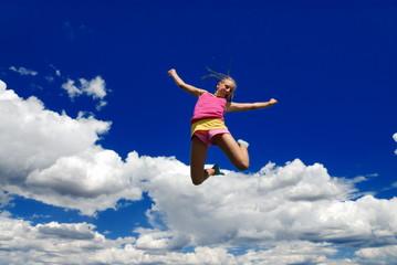 High jumping girl