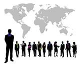 teamwork weltweit poster