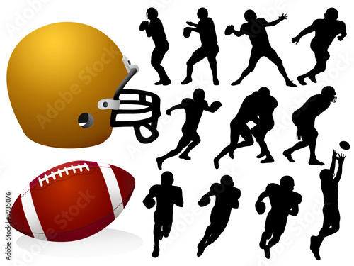 Vector American Football Silhouettes