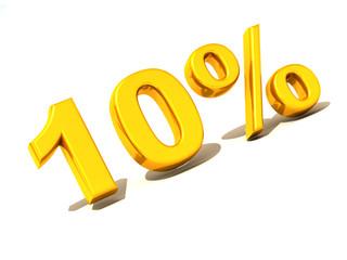 ten percent. Gold