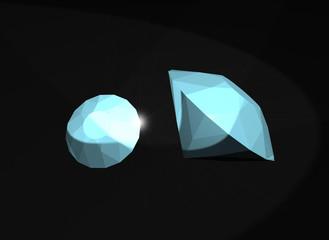Diamanti - Rendering 3D effettuato con 3ds Max