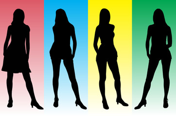 Girls set - 4. Silhouettes