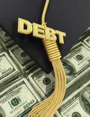 3D College Education Debt  Concept