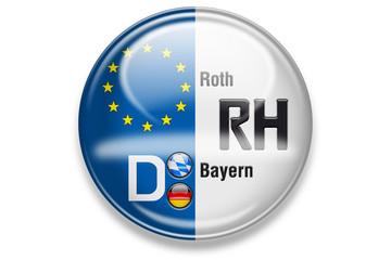Autokennzeichen: RH, Roth, Bayern