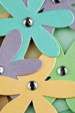 colorful cardboard craft daisies poster