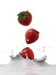 erdbeer milch