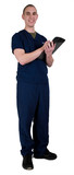 Young Male Health Care Worker In Scrubs poster