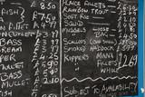 Fishmonger blackboard poster