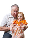 grandfather with girl poster