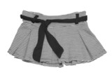 striped black and white mini skirt (with clipping path) poster