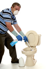 Toilet Cleaning Overkill