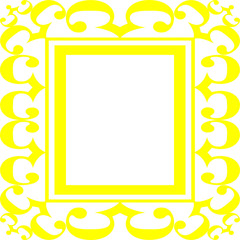 Yellow Scroll Frame Illustration
