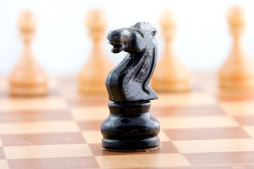 Chess figure on a chess board