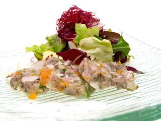 kalbssülze mit salat