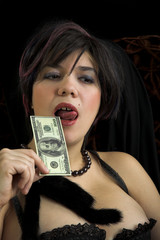 sexual girl with a lot of money