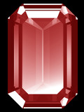 3d ruby isolated  poster