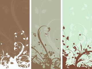 Floral grunge panels