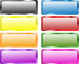Colorful rectangle buttons poster