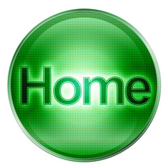 home icon green, isolated on white background.