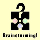 Conceptual brainstorming symbol poster