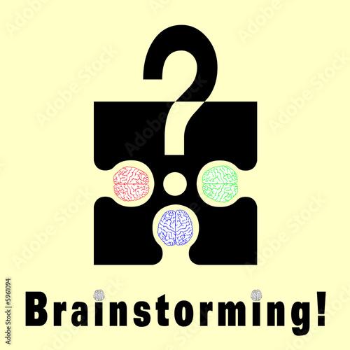 poster of Conceptual brainstorming symbol