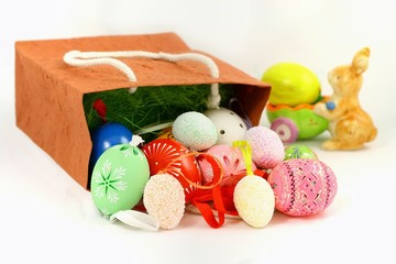 Easter and decorative ornaments - eggs and hare