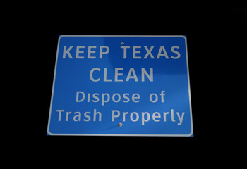Keep Texas clean sign