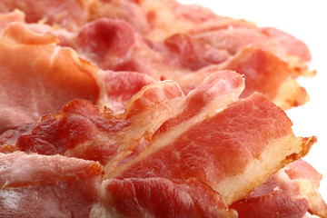 crispy bacon slices super macro shot