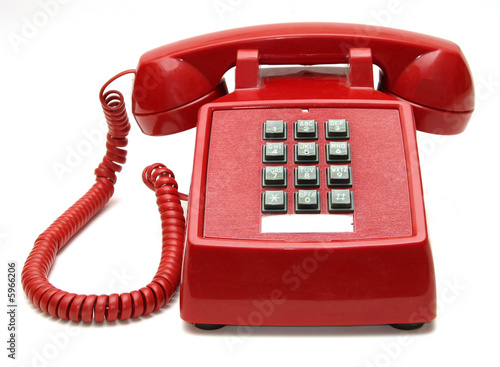 Red Phone on white background - 5966206