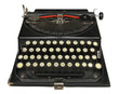 Antique portable typewriter with Central European charset.