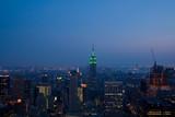 Manhattan in the twilight. New York poster